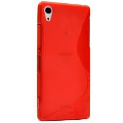 """""""S-Line"""" kieto silikono (TPU) dėklas - raudonas (Xperia Z1)"""