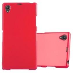 Kieto silikono (TPU) dėklas - raudonas (Xperia Z1)