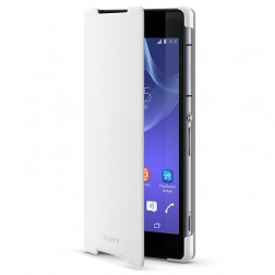 """Sony"" Style Cover Stand atverčiamas dėklas - baltas (Xperia Z2)"