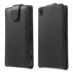 Klasikinis atverčiamas dėklas - juodas (Xperia Z3)