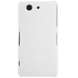 """""""Nillkin"""" Frosted Shield dėklas - baltas + apsauginė ekrano plėvelė (Xperia Z3 Compact)"""