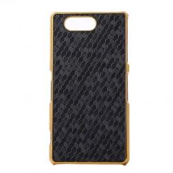 Elegantiškas korėtas dėklas - juodas (Xperia Z3 Compact)