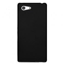 Kieto silikono matinis dėklas - juodas (Xperia Z3 Compact)