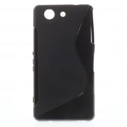 Kieto silikono dėklas - juodas (Xperia Z3 Compact)