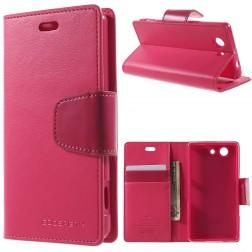 """""""Mercury"""" Sonata atverčiamas dėklas - rožinis (Xperia Z3 Compact)"""