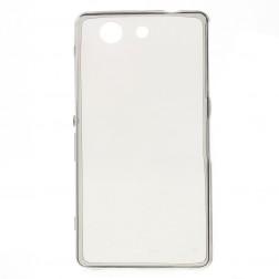 Ploniausias TPU skaidrus dėklas - pilkas (Xperia Z3 Compact)