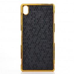 Elegantiškas korėtas dėklas - juodas (Xperia Z3)