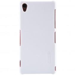 """""""Nillkin"""" Frosted Shield dėklas - baltas + apsauginė ekrano plėvelė (Xperia Z3)"""
