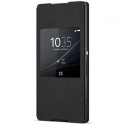 """""""Sony"""" Style Cover Window atverčiamas dėklas - juodas (Xperia Z3+)"""