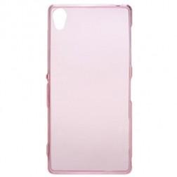 Kieto silikono (TPU) skaidrus dėklas - rožinis (Xperia Z3)