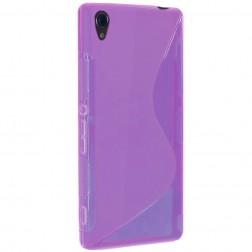 """""""S-Line"""" kieto silikono (TPU) dėklas - skaidrus, violetinis (Xperia Z3)"""