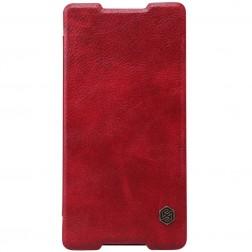 """""""Nillkin"""" Qin atverčiamas dėklas - raudonas (Xperia Z3+)"""
