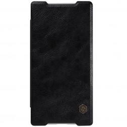 """""""Nillkin"""" Qin atverčiamas dėklas - juodas (Xperia Z5 Compact)"""