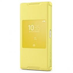 """""""Sony"""" Style Cover Window atverčiamas dėklas - geltonas (Xperia Z5 Compact)"""