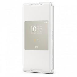 """""""Sony"""" Style Cover Window atverčiamas dėklas - baltas (Xperia Z5 Compact)"""