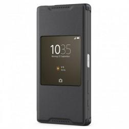 """""""Sony"""" Style Cover Window atverčiamas dėklas - juodas (Xperia Z5 Compact)"""