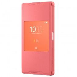"""""""Sony"""" Style Cover Window atverčiamas dėklas - rožinis (Xperia Z5 Compact)"""