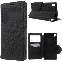 """""""Roar"""" Diary atverčiamas dėklas, piniginė - juoda (Xperia Z5 Premium)"""
