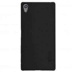 """""""Nillkin"""" Frosted Shield dėklas - juodas + apsauginė ekrano plėvelė (Xperia Z5 Premium)"""