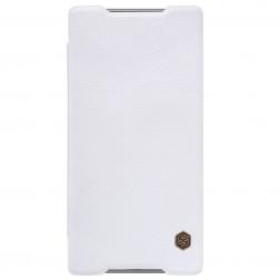 """""""Nillkin"""" Qin atverčiamas dėklas - baltas (Xperia Z5 Premium)"""