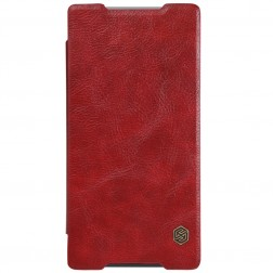 """""""Nillkin"""" Qin atverčiamas dėklas - raudonas (Xperia Z5 Premium)"""