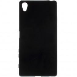 Kieto silikono (TPU) dėklas - juodas (Xperia Z5 Premium)