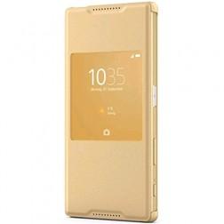 """""""Sony"""" Style Cover Window atverčiamas dėklas - auksinis (Xperia Z5)"""
