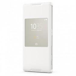 """""""Sony"""" Style Cover Window atverčiamas dėklas - baltas (Xperia Z5)"""
