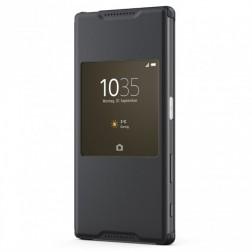 """""""Sony"""" Style Cover Window atverčiamas dėklas - juodas (Xperia Z5)"""