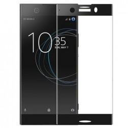 """""""Calans"""" Tempered Glass pilnai dengiantis apsauginis ekrano stiklas 0.2 mm - juodas (Xperia XZ1 Compact)"""