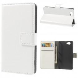 Atverčiamas dėklas, piniginė - baltas (Xperia Z1 compact)
