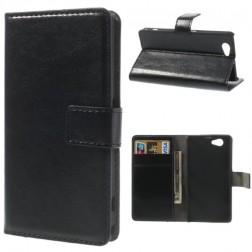 Atverčiamas dėklas, piniginė - juodas (Xperia Z1 compact)