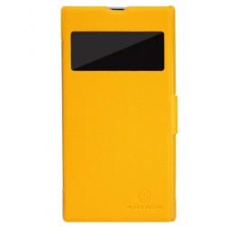 """""""Nillkin"""" Fresh atverčiamas dėklas - geltonas (Xperia Z1)"""
