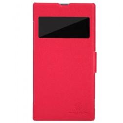 """""""Nillkin"""" Fresh atverčiamas dėklas - raudonas (Xperia Z1)"""