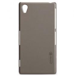 """""""Nillkin"""" Frosted Shield dėklas - rudas + apsauginė ekrano plėvelė (Xperia Z1)"""