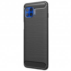 """""""Carbon"""" kieto silikono (TPU) dėklas - juodas (Moto G 5G Plus)"""