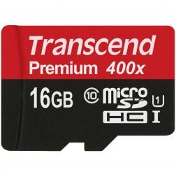 """""""Transcend"""" Premium 400x MicroSD atminties kortelė - 16 Gb (10 Klasė)"""