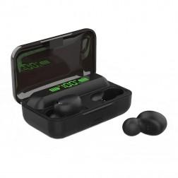 """""""TWS"""" True Wireless BTH-F9-5 bevielės ausinės - juodos"""