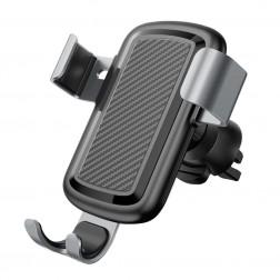 """""""Cafele"""" automobilinis telefono laikiklis (kroviklis, į groteles) - juodas / sidabrinis"""