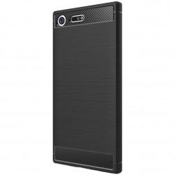 """""""Carbon"""" kieto silikono (TPU) dėklas - juodas (XZ Premium)"""