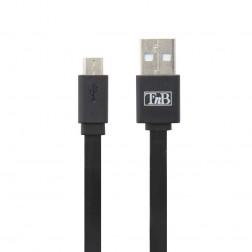 """T'nB"" micro USB laidas - juodas (0,30 m.)"