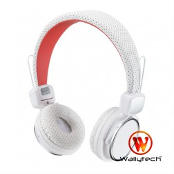 """""""Wallytech"""" ausinės su lankeliu - baltos"""