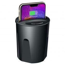 """""""Fast"""" Wireless Charging automobilinis telefono kroviklis / laikiklis - juodas"""