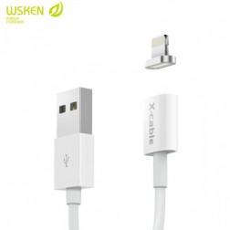 """Wsken"" X-Cable Mini magnetinis lightning USB laidas - baltas (1 m.)"