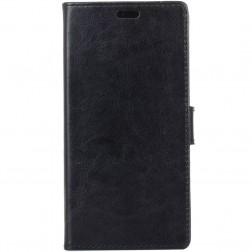 Atverčiamas odinis dėklas - juodas (Galaxy Xcover 4)