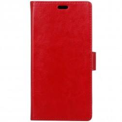 Atverčiamas odinis dėklas - raudonas (Galaxy Xcover 4 / 4S)