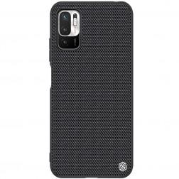 """""""Nillkin"""" Textured dėklas - juodas (Poco M3 Pro / Redmi Note 10 5G)"""