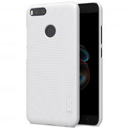 """""""Nillkin"""" Frosted Shield dėklas - baltas + apsauginė ekrano plėvelė (Mi A1 / 5X)"""