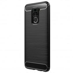 """""""Carbon"""" kieto silikono (TPU) dėklas - juodas (Redmi Note 9)"""
