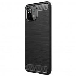 """""""Carbon"""" kieto silikono (TPU) dėklas - juodas (Mi 11 Lite)"""